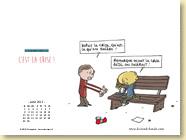 Avril 2013 - Fond d'écran n°4 : C'est la crise ! de Eric Appéré (Des ronds dans l'O - mars 2013)