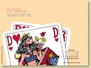 Mars 2013 - Fond d'écran n°1 : En chemin elle rencontre... vol.3 - Les artistes se mobilisent pour l'égalité femme-homme (Des ronds dans l'O - 28 fév. 2013)