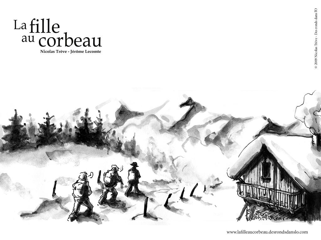 Voir les fonds d'écran de La fille au corbeau de Nicolas Trève et Jérôme Lecomte