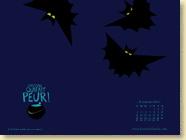 NOVEMBRE 2013 - Fond d'écran n°1 : L'histoire qui fait peur ! par Marjorie Béal / Jeunesse (Des ronds dans l'O - novembre 2013)