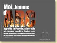 Fond d'écran de JUIN 2012 n°3 : Moi, Jeanne d'Arc de Valérie Mangin et Jeanne Puchol (en librairie depuis le 16 mai 2012)