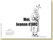 Fond d'écran de JUIN 2012 n°4 : Moi, Jeanne d'Arc de Valérie Mangin et Jeanne Puchol (en librairie depuis le 16 mai 2012)