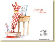 JUILLET 2015 - Fond d'écran n°1 : Le voyage de June - Sophie Kovess-Brun, Sandrine Revel / Jeunesse (juillet 2015)