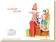 JUILLET 2015 - Fond d'écran n°2 : Le voyage de June - Sophie Kovess-Brun, Sandrine Revel / Jeunesse (juillet 2015)