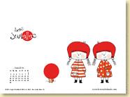 JUIN 2014 - Fond d'écran n°3 : Les jumelles T1 - La rencontre d'Ingrid Chabbert et Maarjorie Béal / Jeunesse