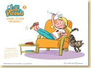 DECEMBRE 2014 - Fond d'écran n°1 : Lili Pirouli, T2 - Demain je serai présidente ! de Nancy Guilbert et Armelle Modéré / Jeunesse