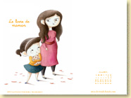 JUIN 2013 - Fond d'écran n°2 : Le livre de maman d'Ingrid Chabbert et Cécile Bondon / Jeunesse (Des ronds dans l'O - mai 2013)