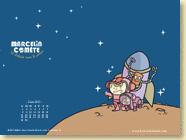 JUIN 2015 - Fond d'écran n°1 : Marcelin Comète se balade dans le cosmos - Marc Lizano, Elodie Shanta