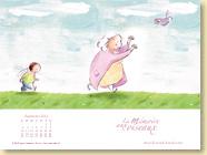 Fond d'écran de Septembre 2012 n°2 : La mémoire aux oiseaux d'Ingrid Chabbert et Soufie (Des ronds dans l'O,  août 2012)