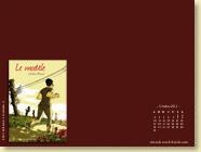 Fond d'écran n°4 : Le modèle, de Laëtitia Rouxel (oct. 2011)