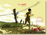 Fond d'écran n°1 : Le modèle, de Laëtitia Rouxel (oct. 2011)