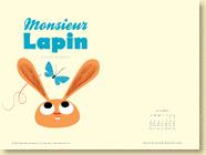 JUIN 2013 - Fond d'écran n°1 : Monsieur Lapin - T2, La chasse aux papillons de Baptiste Amsallem et Loïc Dauvillier / Jeunesse (Des ronds dans l'O - juin 2013)