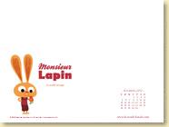 Novembre 2012 - Fond d'écran n°2 : Mr Lapin, T1 La carotte sauvage de Loïc Dauvillier et Baptiste Amsallem (Des ronds dans l'O, oct. 2012)