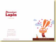 Décembre 2012 - Fond d'écran n°4 : Mr Lapin, T1 La carotte sauvage de Loïc Dauvillier et Baptiste Amsallem (Des ronds dans l'O, oct. 2012)