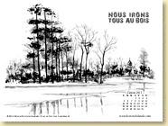 JANVIER 2015 - Fond d'écran n°2 : Nous irons tous au bois /¨Polar
