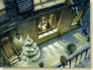 Fond d'écran n°1 : La petite fille aux allumettes de Hans Christian Andersen illustré par Fabrice Backès - Jeunesse (oct. 2011)