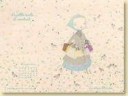 Novembre 2012 - Fond d'écran n°3 : La petite vieille du vendredi de Marie Moinard et Isaly (Des ronds dans l'O,  oct. 2012)