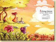 NOVEMBRE 2013 - Fond d'écran n°4 : L'étrange histoire de Pétula-Élisabeth Artichaut par Amélie Billon-Le Guennec et Kabuki / Jeunesse (Des ronds dans l'O - novembre 2013)