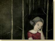Fond d'écran de MAI 2012 n°3 : La petite fille qui prenait racine de Caroline Van Linthout et Pole Ka (en librairie depuis le 19 avril 2012)