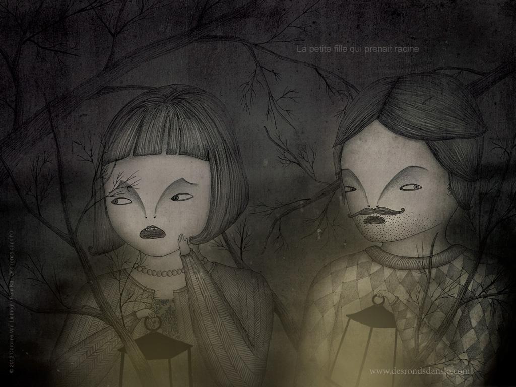 La petite fille qui prenait racine (3 fonds d'écran)