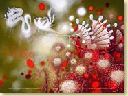 Décembre 2012 - Fond d'écran n°3 : La tisseuse de nuages d'Ingrid Chabbert et Virginie Rapiat (Des ronds dans l'O, 15 novembre 2012)