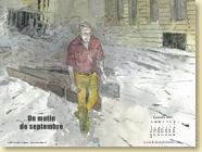SEPTEMBRE 2013 - Fond d'écran n°2 : Un matin de septembre de Jérôme Pigney / Un roman graphique (Des ronds dans l'O - août 2013)