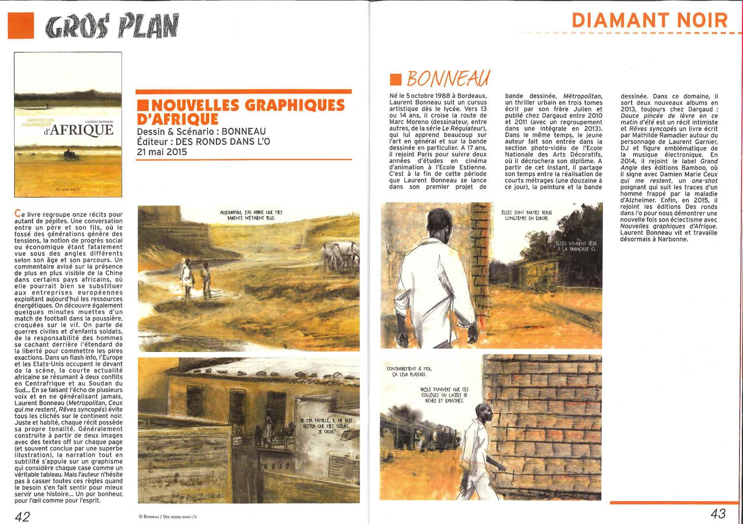 Nouvelles graphiques d'Afrique de Laurent Bonneau : revue de presse, extrait, auteur