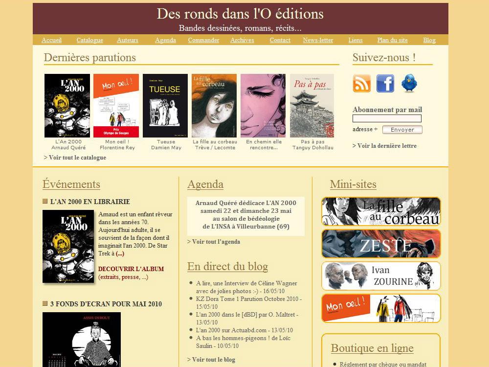 Le site des éditions Des ronds dans l'O